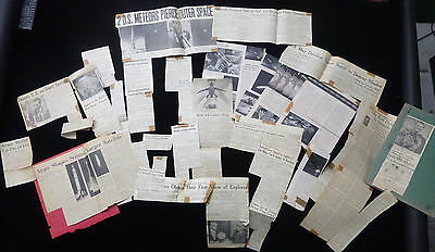 TWENTY ARTICLES FROM NEWS AND MAGAZINES RE: 1957 SPUTNIK SPACE PROGRAM - 1 OWNER