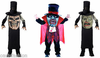 KIDS BOYS HALLOWEEN COSTUME VAMPIRE ZOMBIE EVIL MR HYDE FANCY DRESS OUTFIT - Mr Hyde Costume