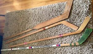 Vintage Hockey Sticks with 1970's Montreal Canadiens Autographs