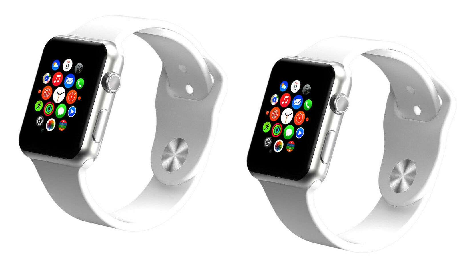 New 2 Pack White G10 Smart Wrist Watch Bluetooth Phone A1 Watches Cell Phones & Accessories