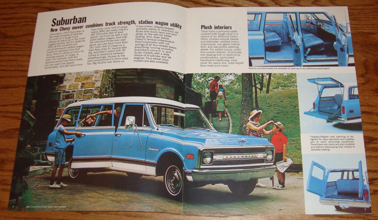 1970 Chevrolet Truck Suburban Panel Sales Brochure 70 Chevy 1961 Van