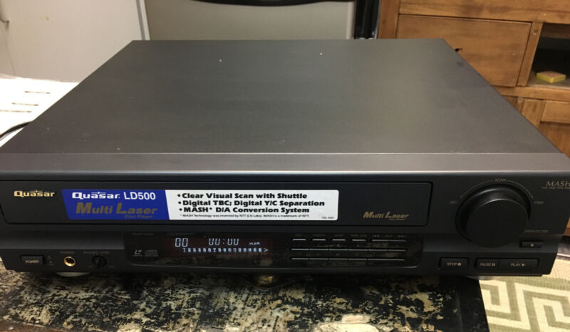 Mint, New & Complete (No Box) 1992 Quasar Multi Laser Disc Player Model LD 500