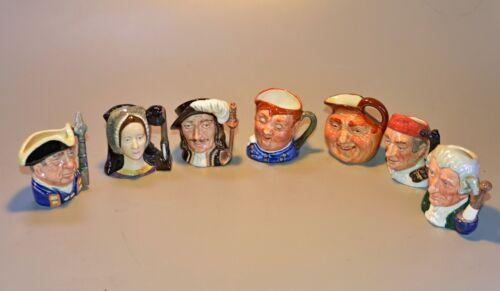 Royal Doulton Character Jogs lot of seven miniatures