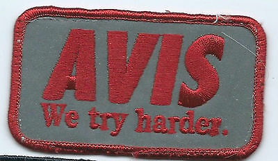 Avis Car Rental Advertising We Try Harder Employee Patch 2 X 3 1 2  290