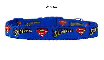 ttlere Rasse Hund Welpe Halsband oder & Leinenset 19mm (Superman Welpen)