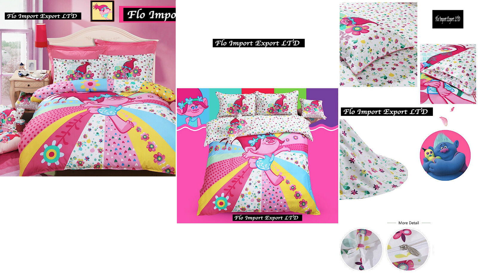 Copripiumino 250x260.Trolls Set Cover Duvet Duvet Sheets Pillowcases Duvet Cover Set