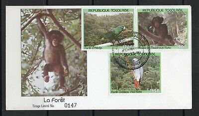 Togo FDC stamps  birds,