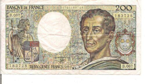 FRANCE, 200 FRANCS, 1991