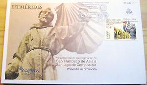 SOBRE-1-DIA-VII-CENTENARIO-DE-LA-PEREGRINACION-SAN-F-DE-ASIS-A-S-COMPOSTELA