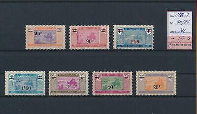 LO18786 Mauritania 1924 overprint views landscapes lot MH cv 34 EUR