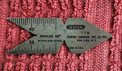 Vintage General Machinist Center Gage No. 778