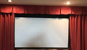Toile et projecteur DVD pour cinéma maison