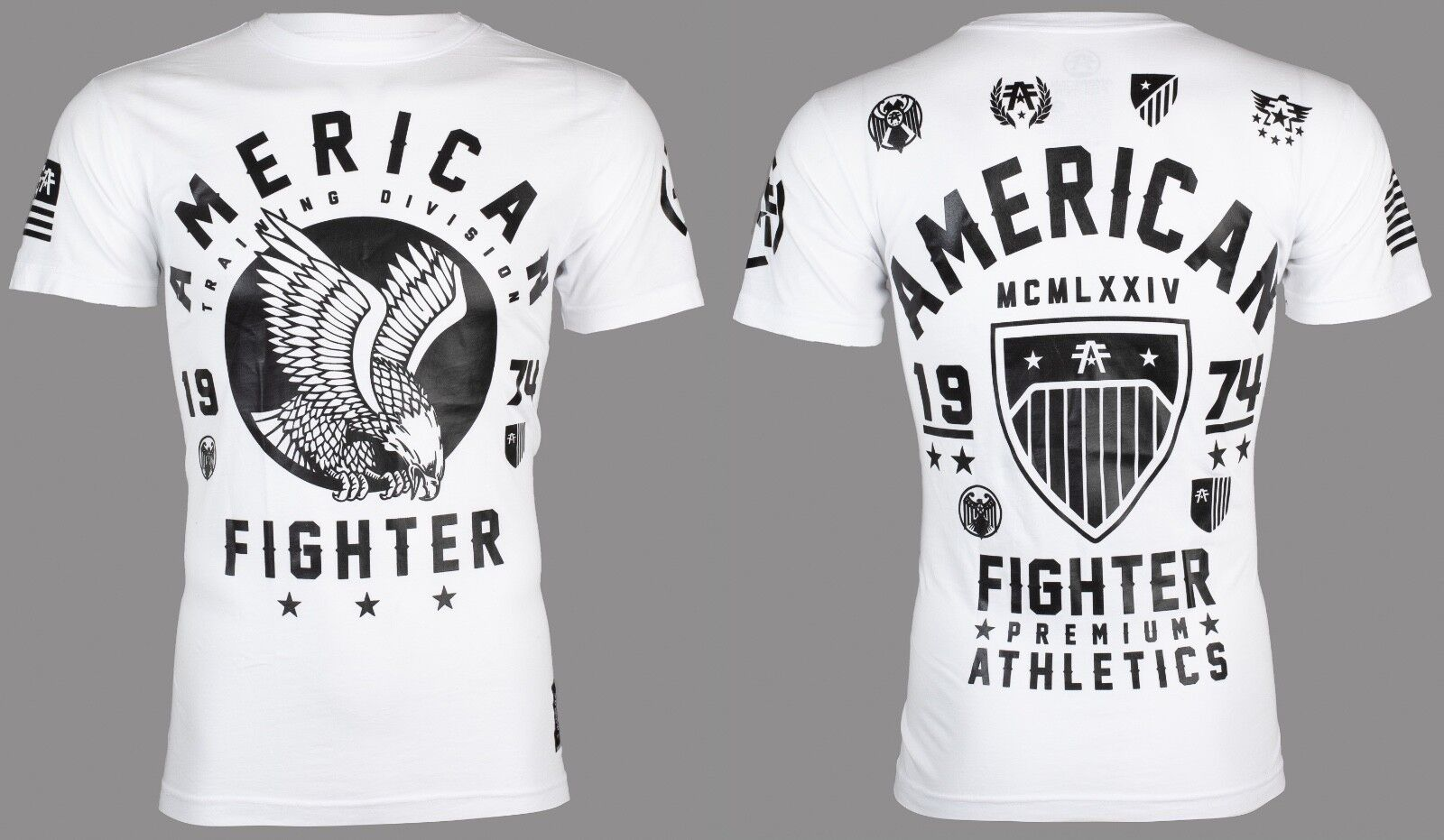 AMERICAN FIGHTER Womens T-Shirt NORTH DAKOTA Athletic BLACK PINK Biker UFC $40