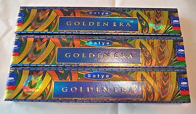 Sai Satya Nag Champa Golden Era Incense Sticks: Lot of 3 15 g Boxes = 45 for sale  Shipping to India
