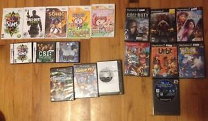 Wii, DS, GameCube, PS2, NES, GameGear games for sale or trade