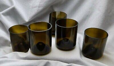 5 Weingläser Wein Becher nachhaltig aus Weinflaschen Recycling flaschengrün top