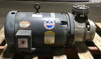 Gl Stainless Steel 9stk1 Pump Model Sst Size 1 X 2-6 With Baldor 7.5 Hp Motor 4