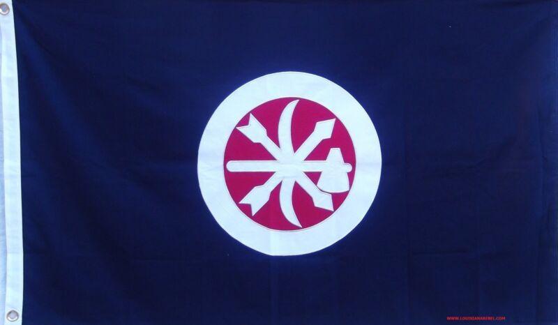 COTTON CHOCTAW BRAVES FLAG - SEWN DETAILS -  HISTORICAL CSA CIVIL WAR