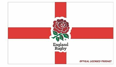 England Rugby Six 6 Nations Official Flag 5ft x 3ft RFU Crest Flag