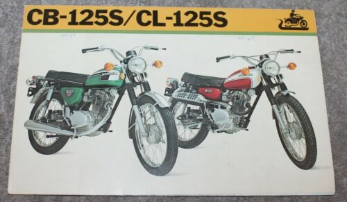 VINTAGE ORIGINAL 1973 HONDA CB-125S/CL-125S MOTORCYCLE BROCHURE/MINI POSTER