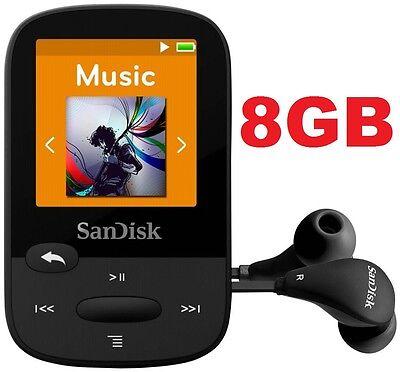 SanDisk Sansa Clip Sport BLACK 8GB Digital Media Player MP3 LCD Radio Micro SD (Sansa Clip Sport)