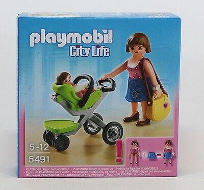 Playmobil© 5491 - Mama mit Kinderwagen