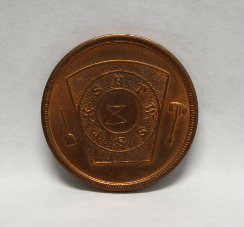 """Masonic """"One Penny"""" Token from Roswell, New Mexico - Scratches  (7601)"""