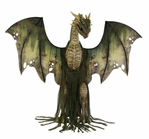 Winter Forest Dragon Animatronic Halloween Haunted House Roaring Decoration Prop