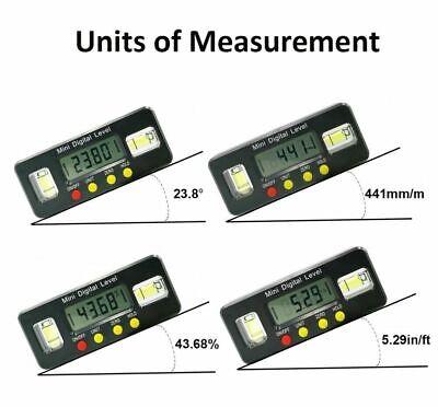490 Inclinometer Level Box Protractor Angle Finder Bevel Gauge Magnet Digital