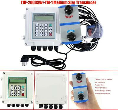 Wall-mounted Ultrasonic Flowmeter Digital With Medium Sized Transducer Indicator