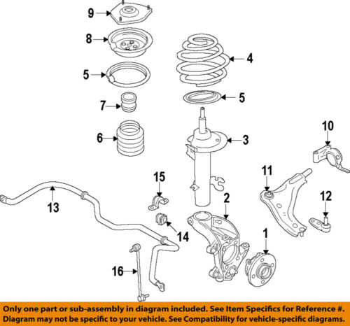 2005 mini cooper engine diagram mini oem 07 15 cooper front suspension strut mount 31306772749 ebay  cooper front suspension strut mount
