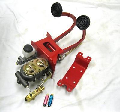(Universal Manual Brake Booster Clutch Pedal Master Cylinder Disc Drum Valve Kit)