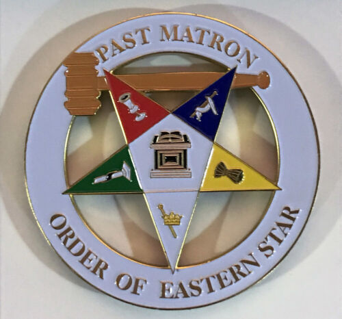 Order of the Eastern Star OES Past Worthy Matron Cut Out Car Emblem-New!
