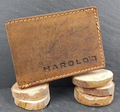 Neu Vintage Rindsleder Herren Ledergeldbörse Klein Brieftasche Portemonnaie