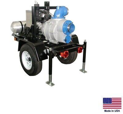 Trash Pump - Trailer Mounted - Commercial - 23 Hp Diesel - 6 Ports - 59700 Gph