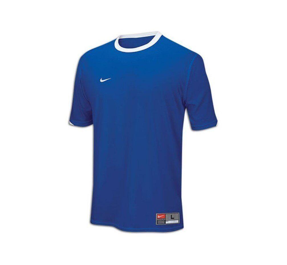 Youth Boys Nike Tiempo Soccer Jersey Royal Blue Dri-Fit Prac