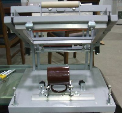 Manual Screen Cylinder Printing Machine For Bottlecuppen Surface Curve Press A