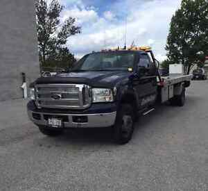 Fully Equipped 2002 Ford F-550 2 Car Carrier Flat Bed, LOW KMS!