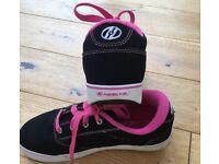 * * * HEELYS FOR SALE - Excellent Condition, Size 5 UK, Black/Pink * * *