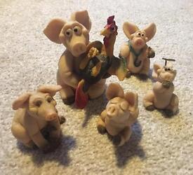 Selection of Handmade Piggin' Collectibles