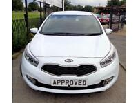 KIA CEED 1.6 CRDI 2 5d AUTO 126 BHP Apply for finance Onlin (white) 2012