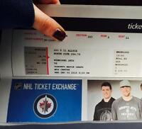 QWinnipeg Jets vs Toronto Maple Leafs Budweiser Lounge Tickets