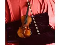 Violin set 3/4 size. All set up and ready to play.