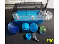 Lovely Blue Hamster Cage