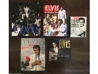 5 X Elvis hard back books