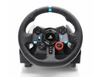 PS4 Logitech G29 steering wheel and pedals