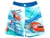 NWT Boys Disney Pixar Lightning McQueen Swim Shorts 8 years