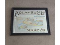 Vintage Adnam's Pub Mirror