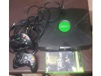 Xbox with 2 games and two pads