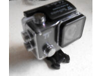 Action cam with starter pack of accessories - brand new, still boxed.